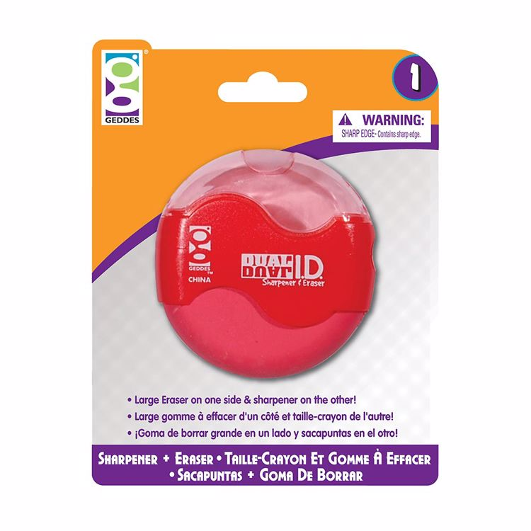 Picture of Home Office 1-Ct Dual ID Sharpener and Eraser
