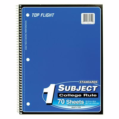 Picture of 1-Subject Spiral Notebook - College Rule