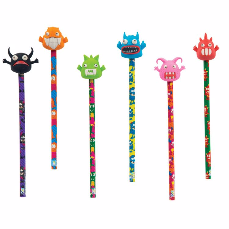 Picture of Monster Pencils with Eraser Toppers