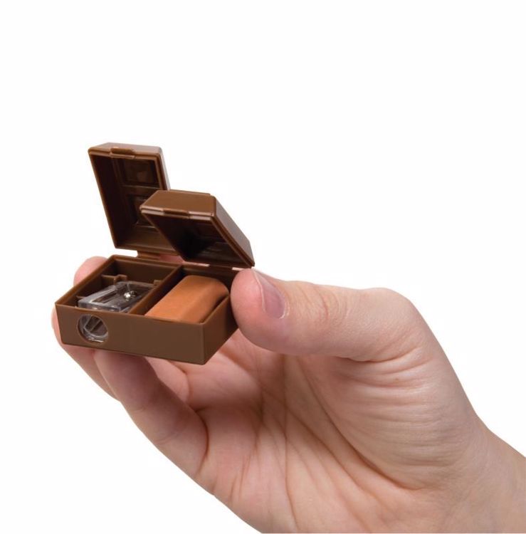 Picture of Chocolate Bar Pencil Sharpeners with Scented Erasers
