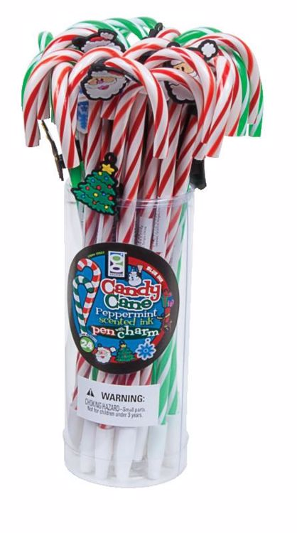 Picture of Christmas Candy Cane Pens