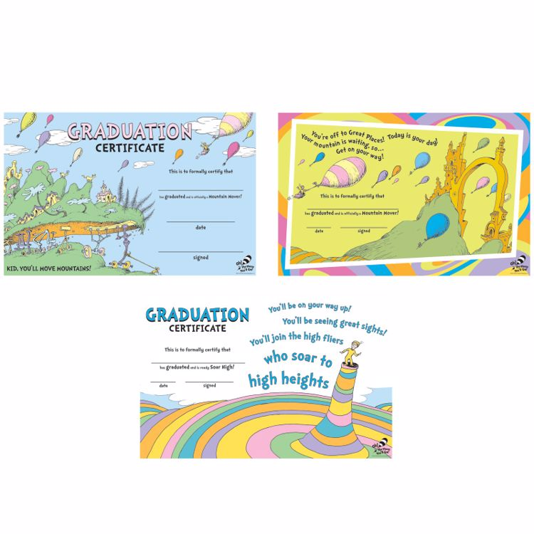 Picture of Dr. Seuss™ Oh the Places You'll Go! Graduation Certificates