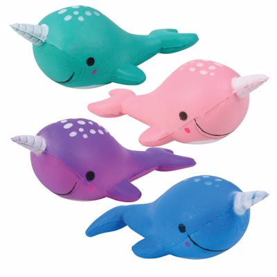 """Picture of 5"""" Squish Narwhal Toys"""