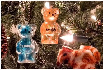 Jelly Bears Key Chain Christmas Ornament