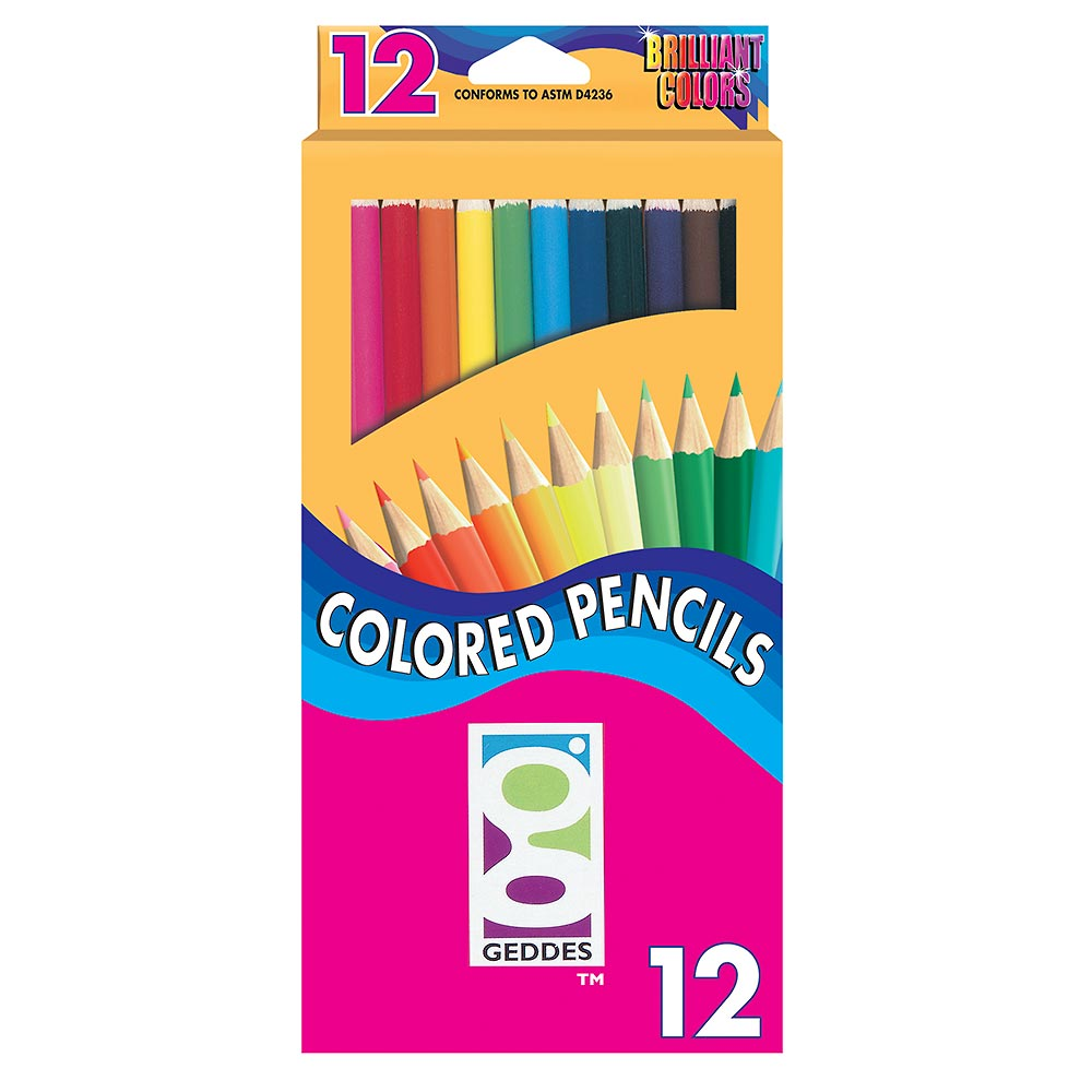 GEDDES 12-CT Colored Pencil Pack