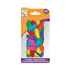 Picture of Home Office 30-Ct Cap Eraser Pack