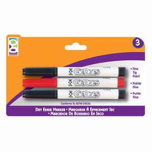 Picture of Home Office 3-Ct Dry Erase Marker Pack