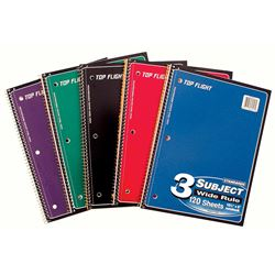 Picture of 3-Subject Spiral Notebook - Wide Rule