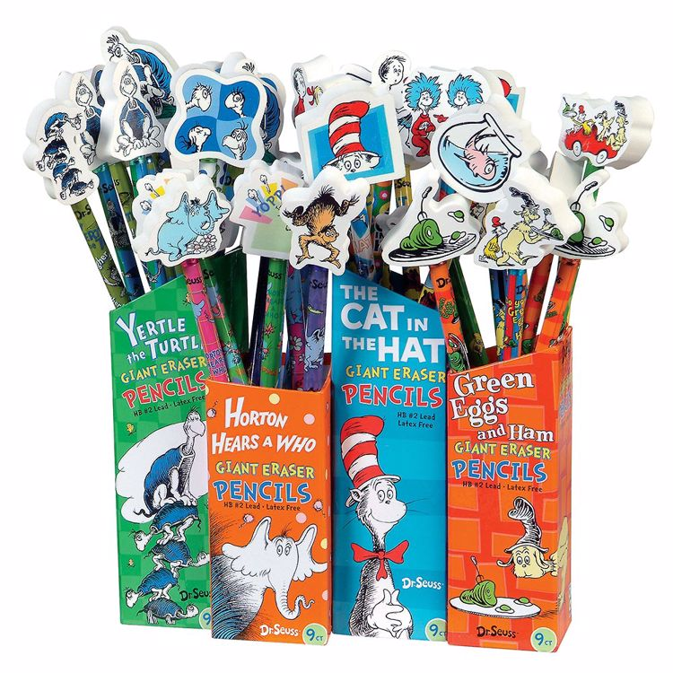 Picture of Dr. Seuss Pencils with Giant Erasers