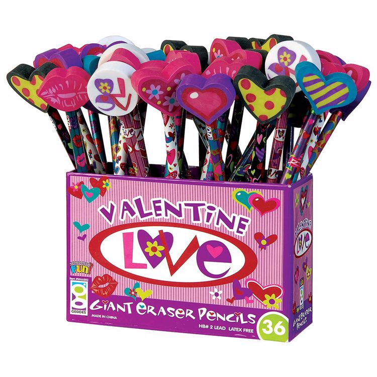 Picture of Valentine Love Pencils With Giant Erasers
