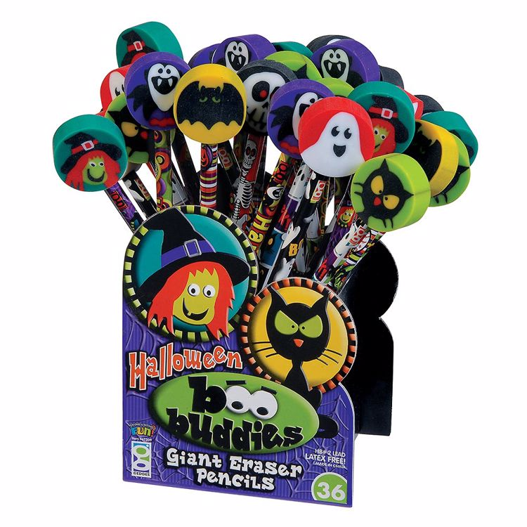 Picture of Boo Buddies Pencils With Giant Erasers