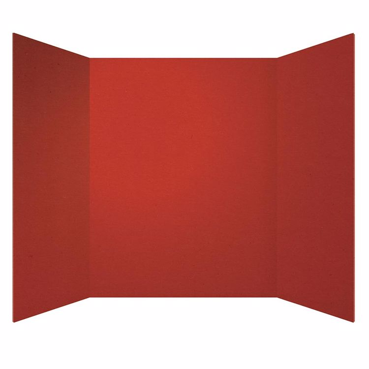 Picture of 30-Ct Tri-Fold Red Project Board
