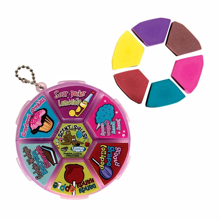 Picture of 6-Ct Scentsibles Carnival Eraser Wheels