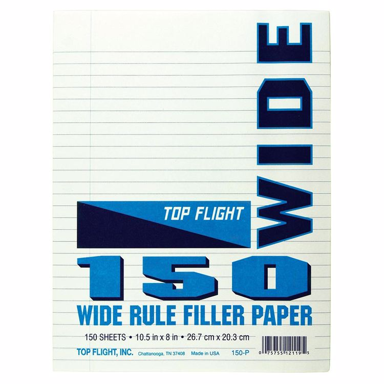 Picture of 8 x 10.5 Looseleaf Paper Pack - Wide Rule