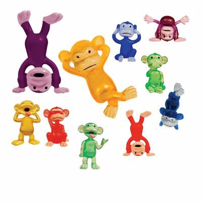 Picture of Funny Monkeys Toy Animal Figures