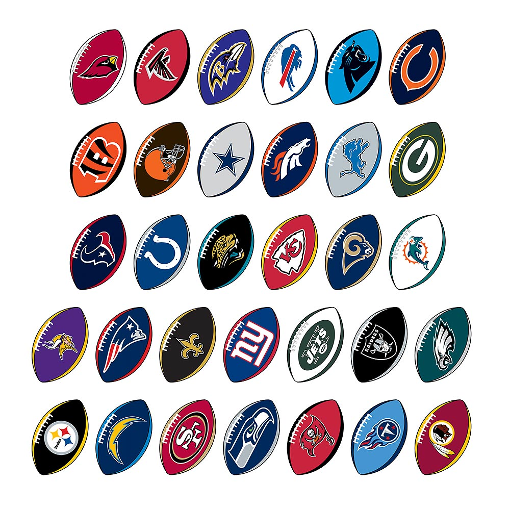 online store cdb6a 429fb NFL Football Prismatic Sticker Assortment