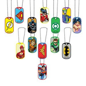 Picture of DC Comics Dog Tag Necklace and Key Chain Assortment