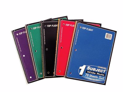 Picture of 1-Subject Spiral Notebook - Wide Rule