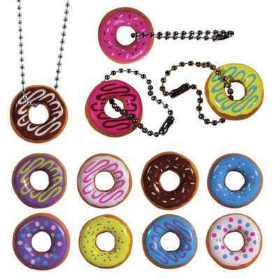 Picture of I Love Donuts Key Chain and Necklace Assortment