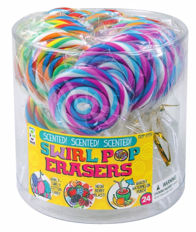 Picture of Scented Swirl Pop Erasers