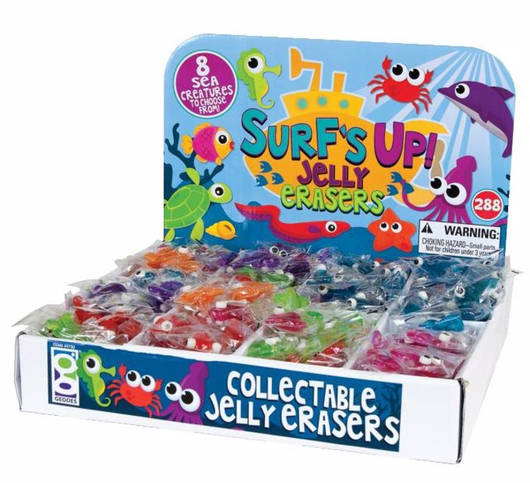 Picture of Surf's Up Jelly Eraser Display