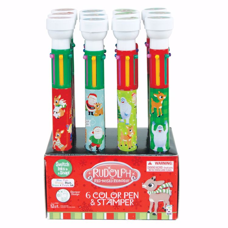Picture of Rudolph The Red-Nosed Reindeer® Pens With Stampers