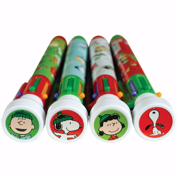 Picture of Peanuts® Holiday 6-Color Pens with Stampers