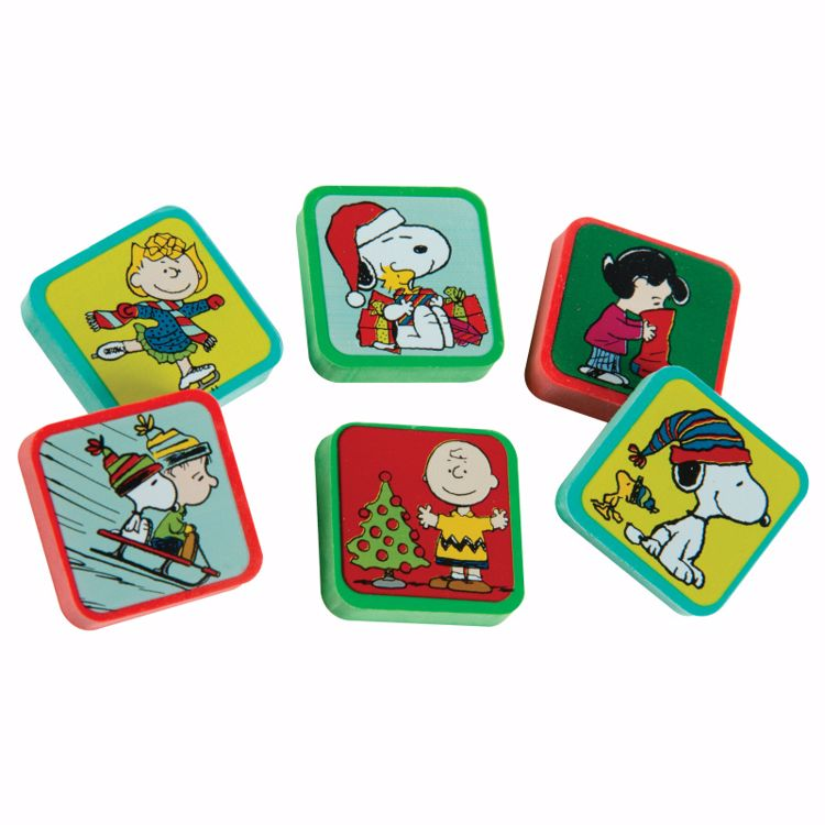Picture of Peanuts® Holiday Character Erasers