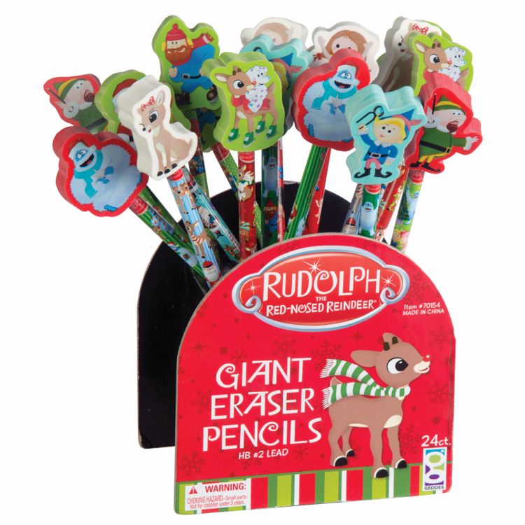Picture of Rudolph The Red-Nosed Reindeer® Pencils + Giant Erasers