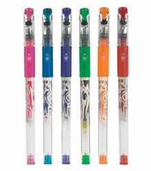 Picture of Silver Scroll Gel Pens