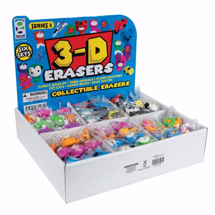 Picture of Series 1 3-D Collectible Erasers