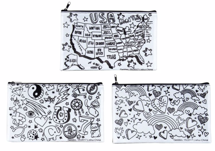 Picture of Color It Too! Pencil Pouches