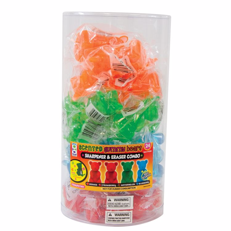 Picture of Gummy Bear Sharpeners & Scented Erasers
