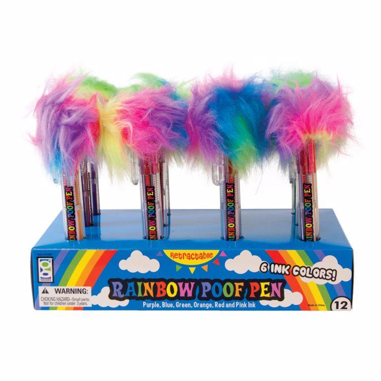 Picture of 6-Color Rainbow Poof Pens