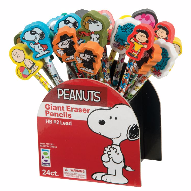 Picture of Peanuts® Giant Eraser Pencils