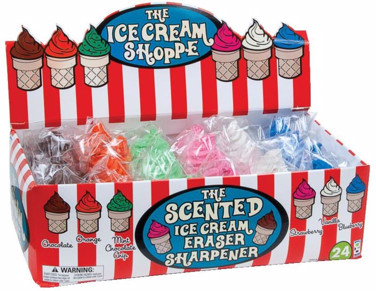 Picture of Ice Cream Shoppe Scented Sharpeners and Erasers