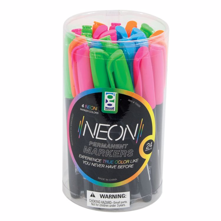 Picture of Neon Permanent Markers