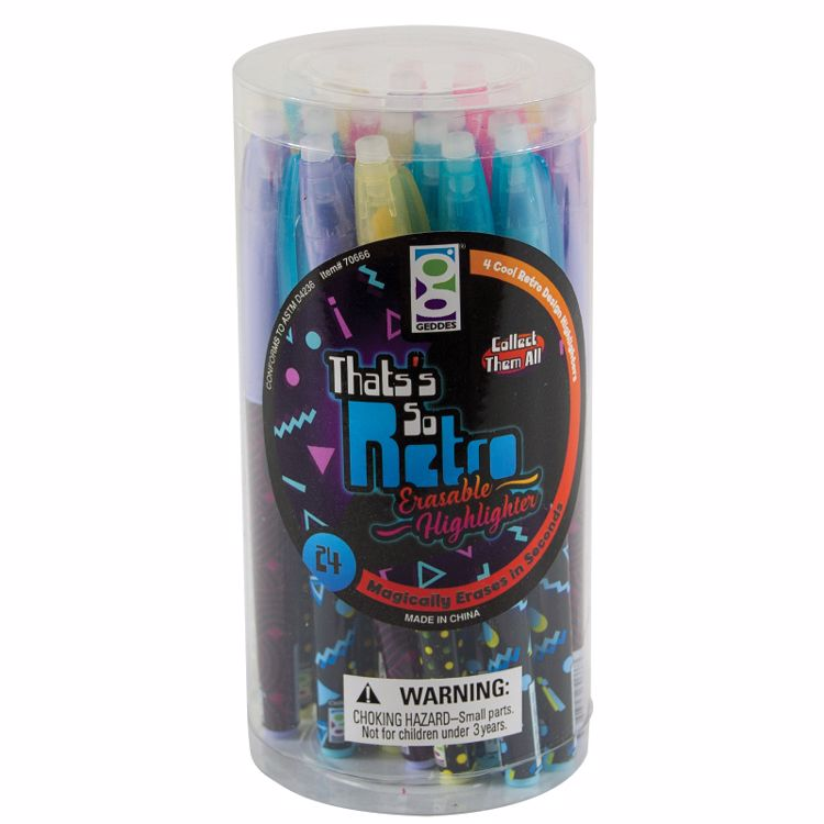 Picture of That's So Retro Erasable Highlighters