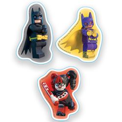 Picture of Lego: The Batman Movie Erasers: Batman/Harley Quinn/Batgirl