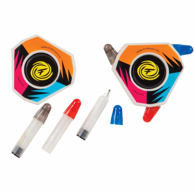 Picture of Fidget-Su Spinning Tri-Color Pens with Erasers