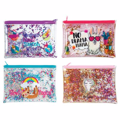 Picture of Trendy Glitter Pencil Pouches
