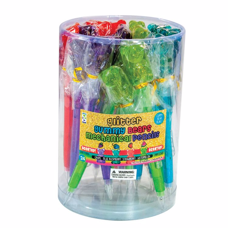 Picture of Scented Glitter Gummy Bears .7mm MP