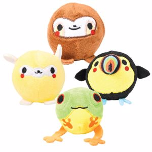 Picture of 3 inch Deluxe Squish Plush Jungle Animals
