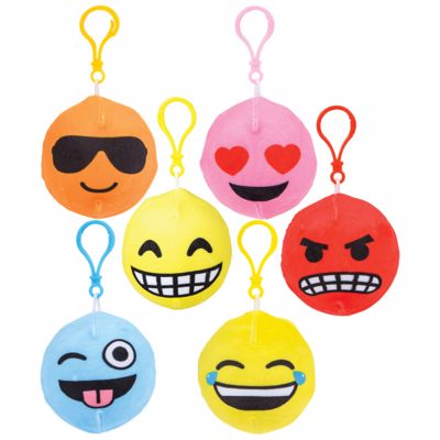 Picture of 3 Inch Squish Plush Emoticon Clips