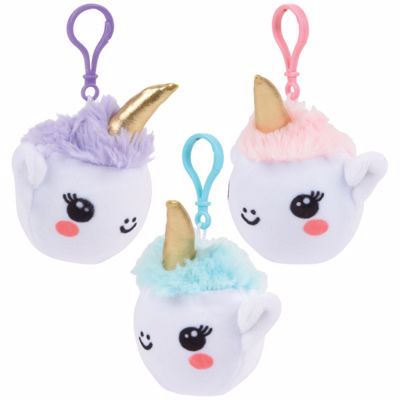 Picture of 3 Inch Squish Plush Unicorn Clips