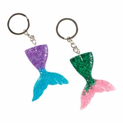 Picture of Acrylic Mermaid Tail Keychain
