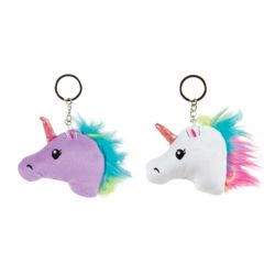 Picture of Puffy Unicorn Head Keychain