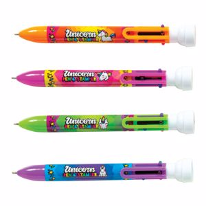 Picture of Unicorn 6 Color Pen With Stamper