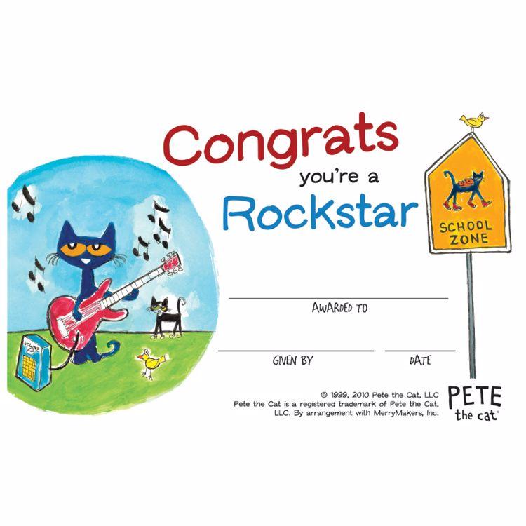 Picture of Pete The Cat Certificates