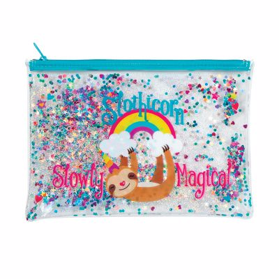 Picture of Slothicorn Trendy Glitter Pencil Pouch